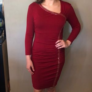 Red Caché cocktail dress